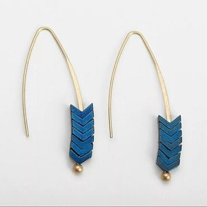 Beautifully unique earrings in blue
